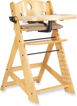 Keekaroo Height Right High Chair with Tray in Natural