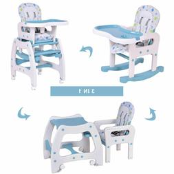 High Chair 3 in 1 Baby Convertible Play Table Seat Booster T