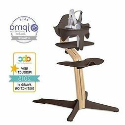 Nomi High Chair, Coffee – White Oak Wood, Modern