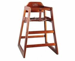 High Chair Kids Mahogany WoodenCommercial Kitchen Restaurant