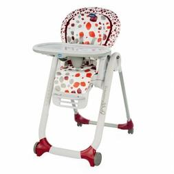 CHICCO High chair Polly Progres5 4 Wheels Cherry 0-118 1/12f