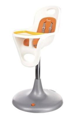Boon High Chair White Seat Orange Pad