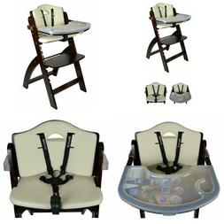 High Quality Adjustable Wooden High Chair Baby Highchair Kid