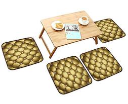 HuaWu-home Luxurious Household Cushions Chairs Golden Leathe