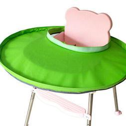 Home Waterproof Foldable Bib Baby Feeding Saucer Highchair C