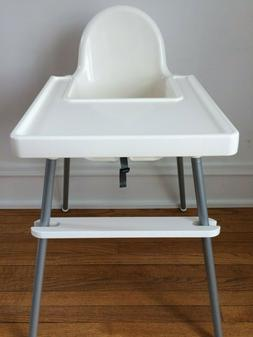 IKEA High Chair Footrest - Adjustable White Footrest for Ike