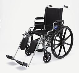 "Medline K4 Basic Lightweight Wheelchair with 20""Wx18""D Seat,"