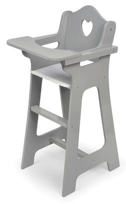 Kids Girls Pretend Play Executive Gray Doll High Chair for 1