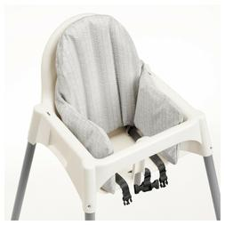 IKEA KLAMMIG BABY CHILD HIGH CHAIR CUSHION SUPPORT GRAY WHIT