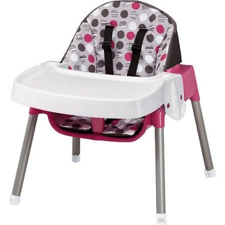 Evenflo 3-in-1 Highchair, Dottie Hypoallergenic, Wipes, 128