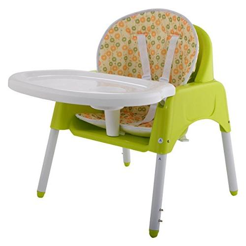 COSTWAY 3 in 1 Baby Convertible Booster Toddler Green