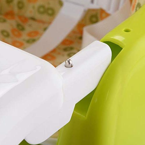 COSTWAY in Baby Convertible Table Booster Toddler Green