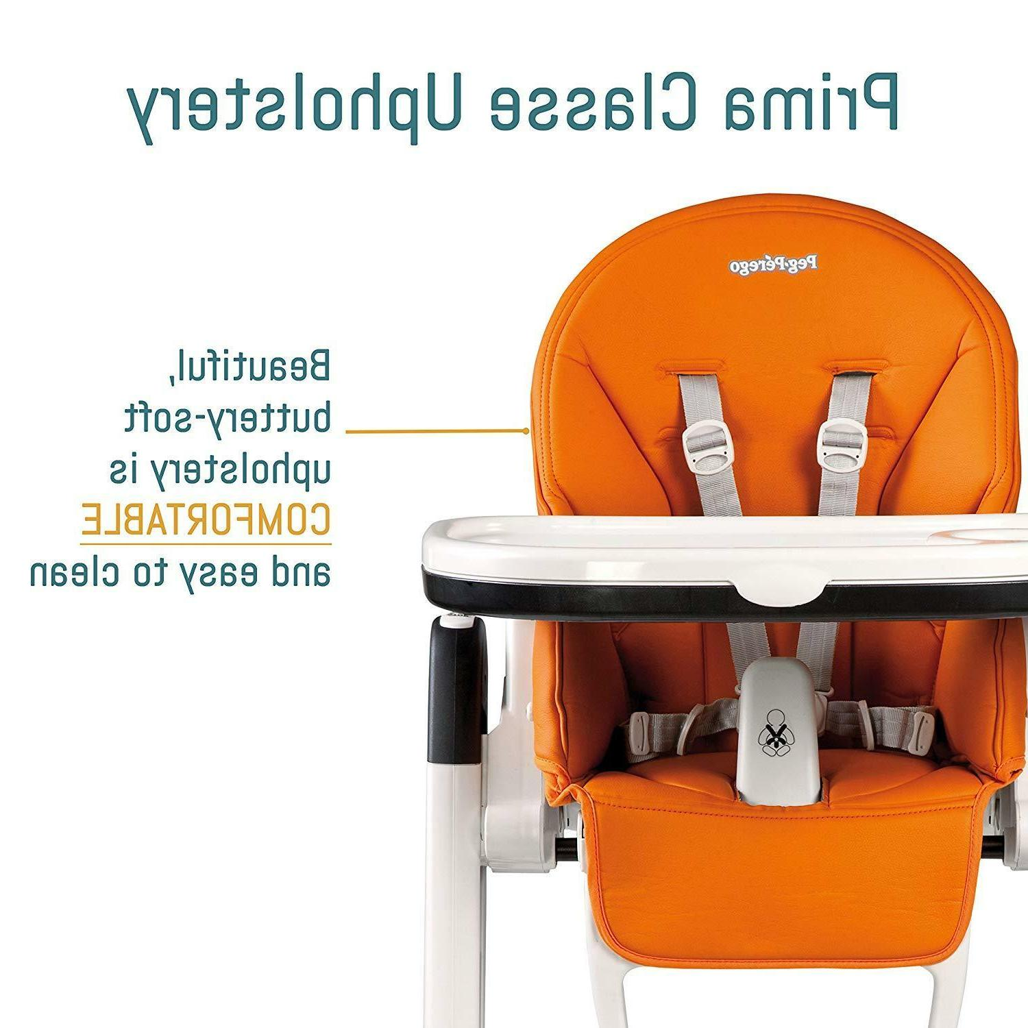 2018 Peg Perego Siesta Highchair Reclines,5 Height Positions