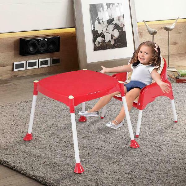 Costway 3 High Chair Convertible Seat Booster Tray