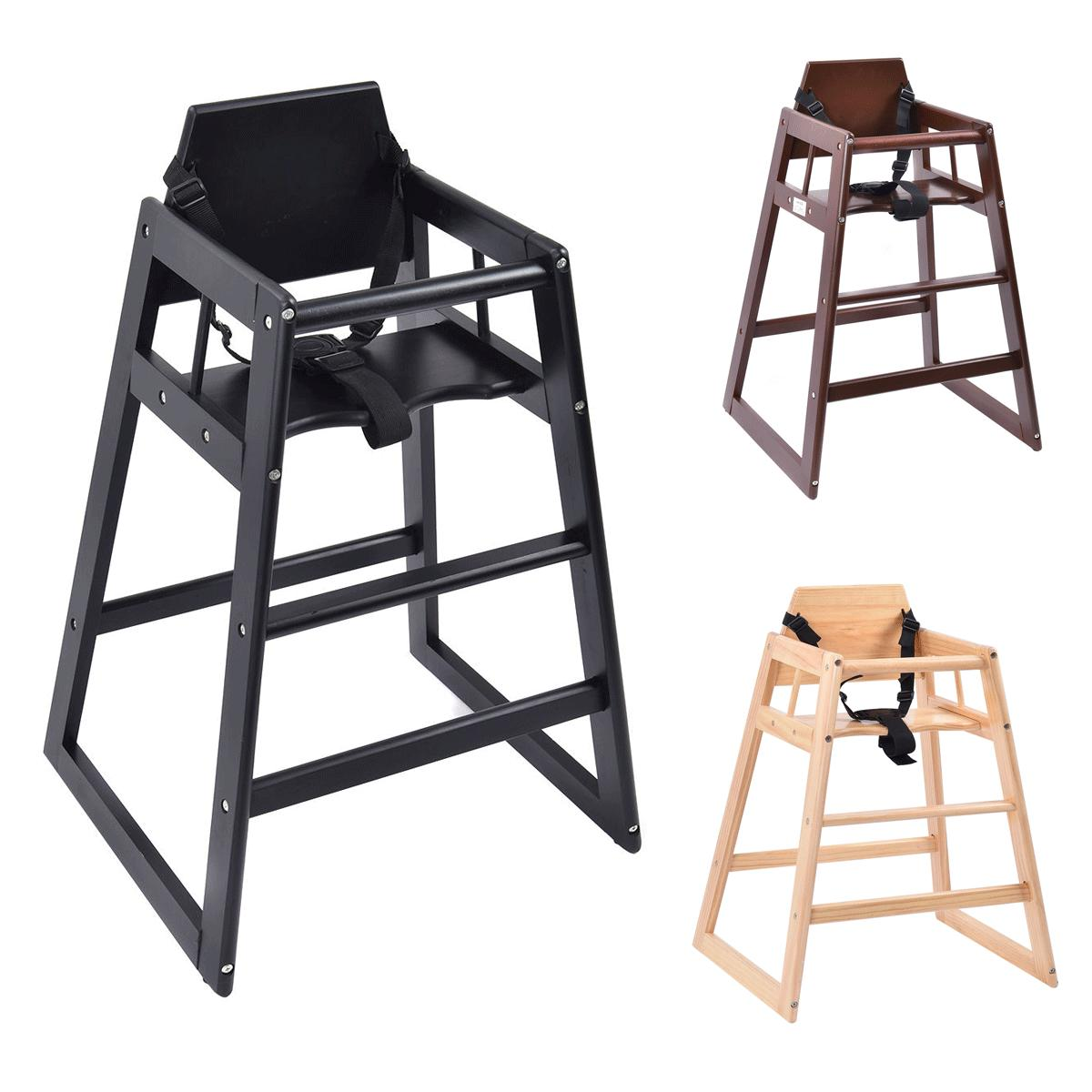 3 colors baby high chair wooden stool