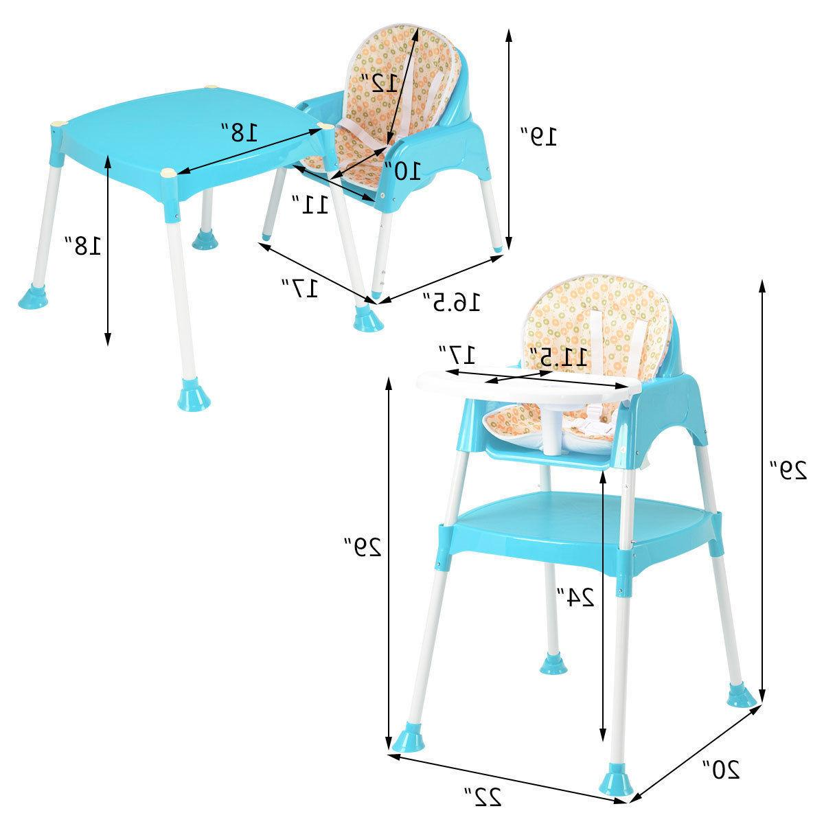 3 1 High Convertible Seat Toddler Highchair 3