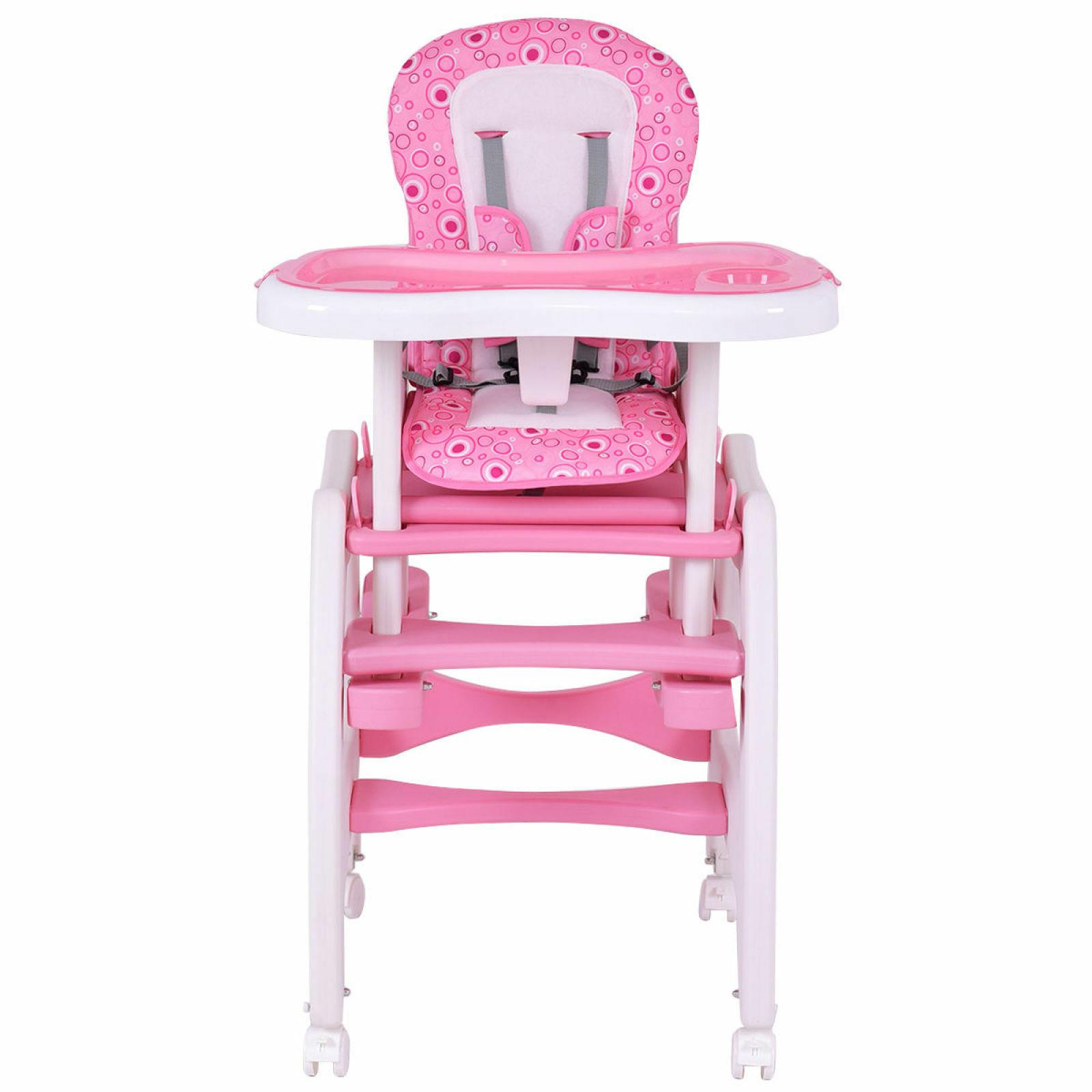 Costway Baby High Play Table Booster Toddler Pink