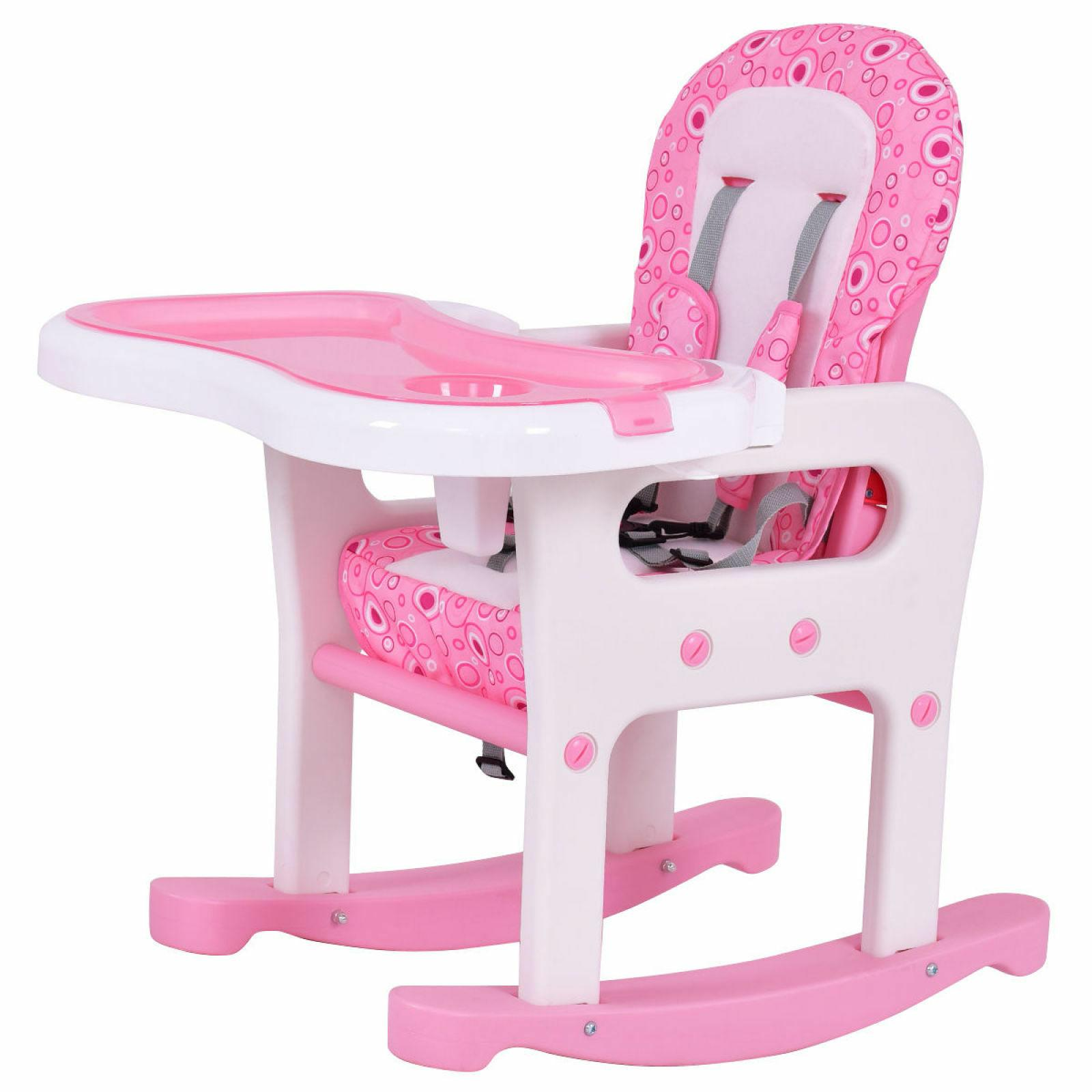Costway 1 Baby Chair Play Table Toddler Pink