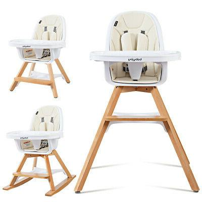 Costway Costway 3 in 1 Baby High Chair Convertible Play Tabl