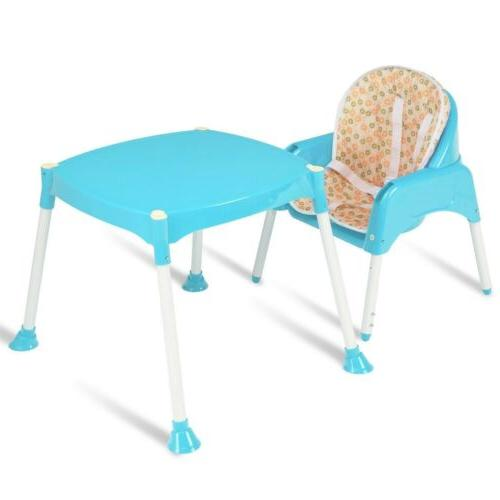 3 in Convertible Table Feeding 3 Colors