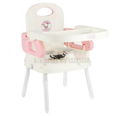 3-In-1 Foldable High Chair, Safe Feeding Adjustable Height New