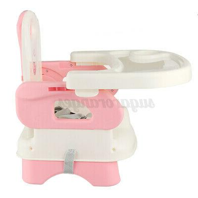 3-In-1 Foldable Baby High Chair, Safe Feeding Adjustable Height