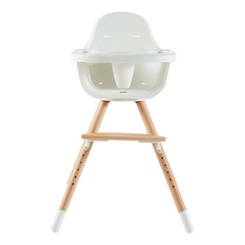 Modern Wooden High Chair Swivel Highchair Feeding Solution w