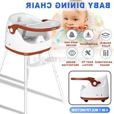 4 High Chair Convertible Table Seat Booster