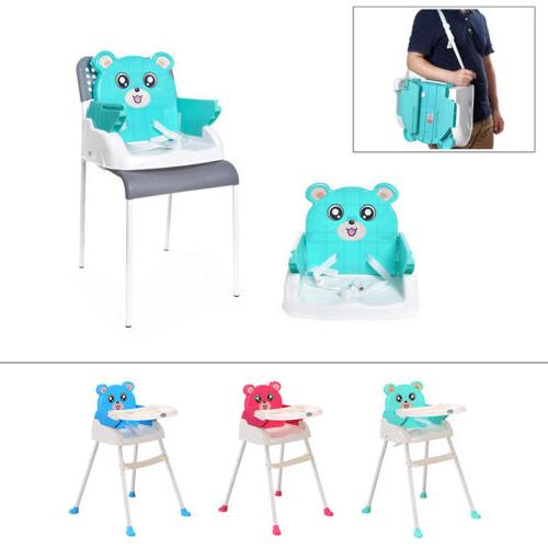 Portable 4in1 Baby High Chair Toddler Table Convertible Feed