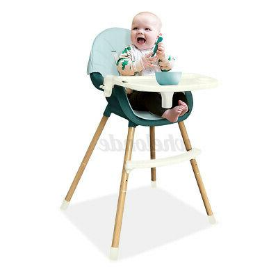 4in1 Baby High Chair w/ Duble Tray Adjustable Highchair Feed