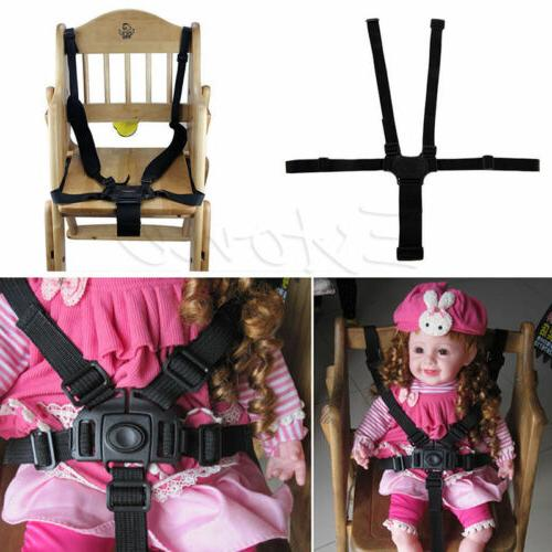 5 Point Kids Safety Chair Belt Strap Chair Car US