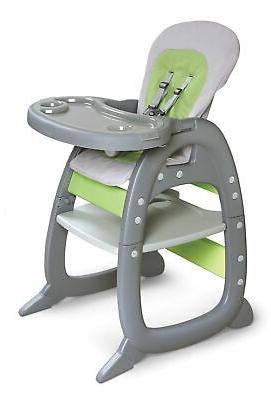 Badger Basket Envee II Baby High Chair with Playtable Conver