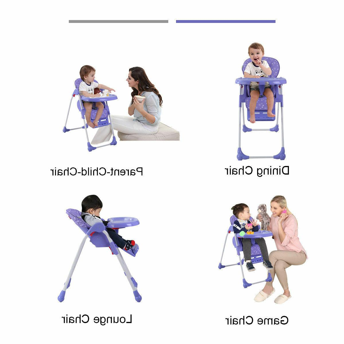 Adjustable High Infant Feeding Seat Folding