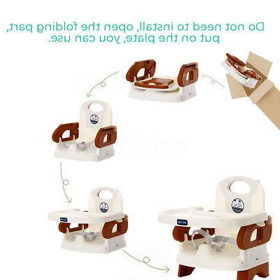 Adjustable Baby Infant Feeding Booster Folding Safety