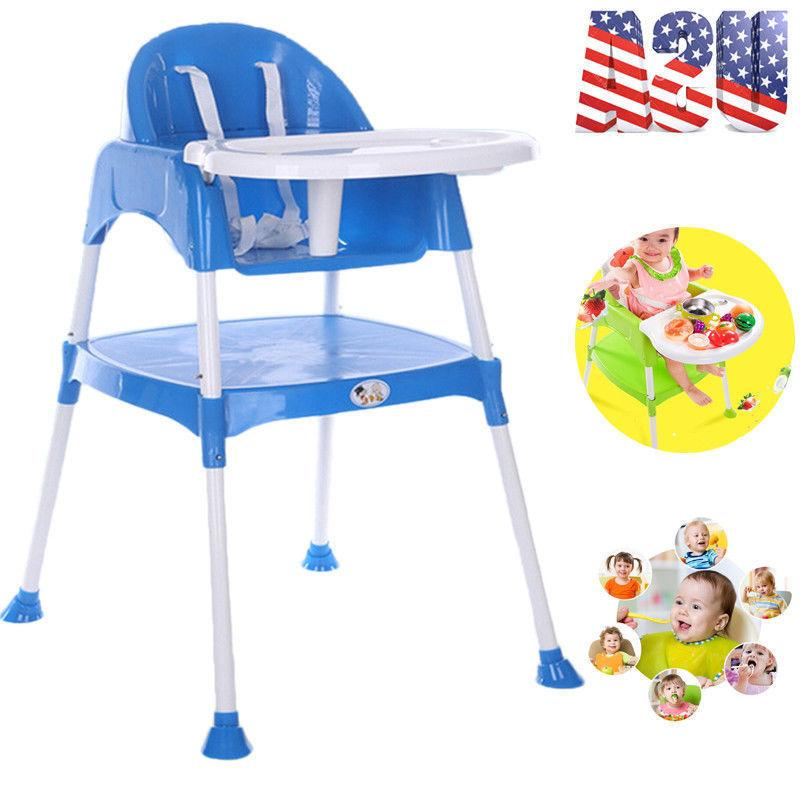 Adjustable Baby High Chair Plastic Infant Feeding Children T