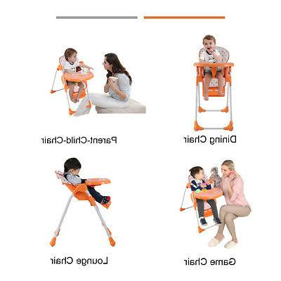 Adjustable Baby High Infant Seat Orange