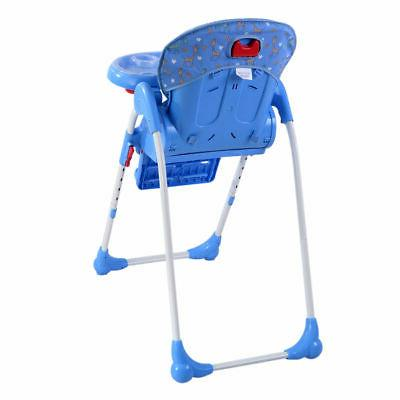 Adjustable Baby High Infant Seat Folding Blue