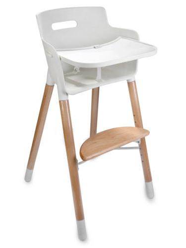 Adjule Wooden Baby Highchairs With Tray For Usa
