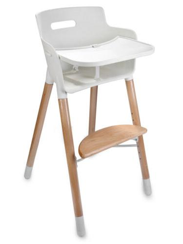 Adjustable Wooden High Chair Baby Infants Feeding Highchairs