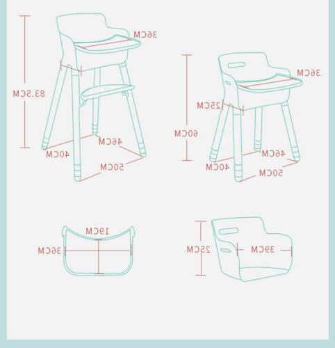 Adjustable Wooden High Baby Highchairs for Baby/Infants/Toddler