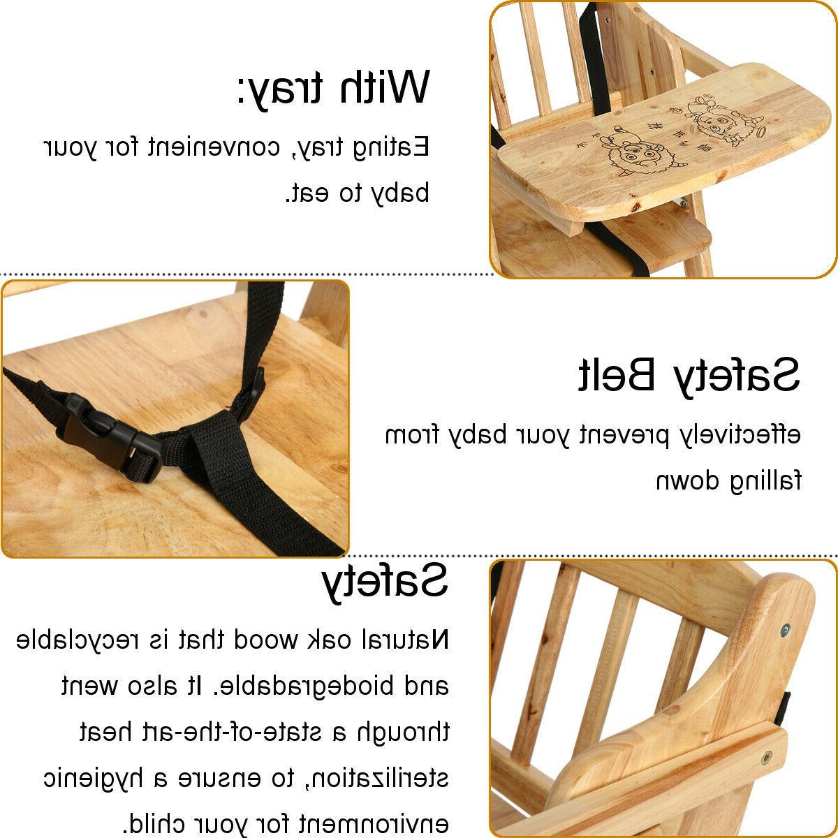 Asewin with Modern Baby Oak Wood Chair Infant