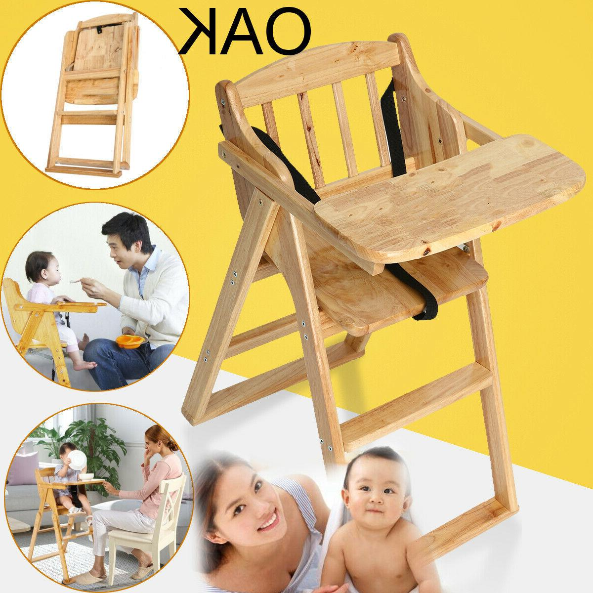 asewin wooden high chair with tray modern