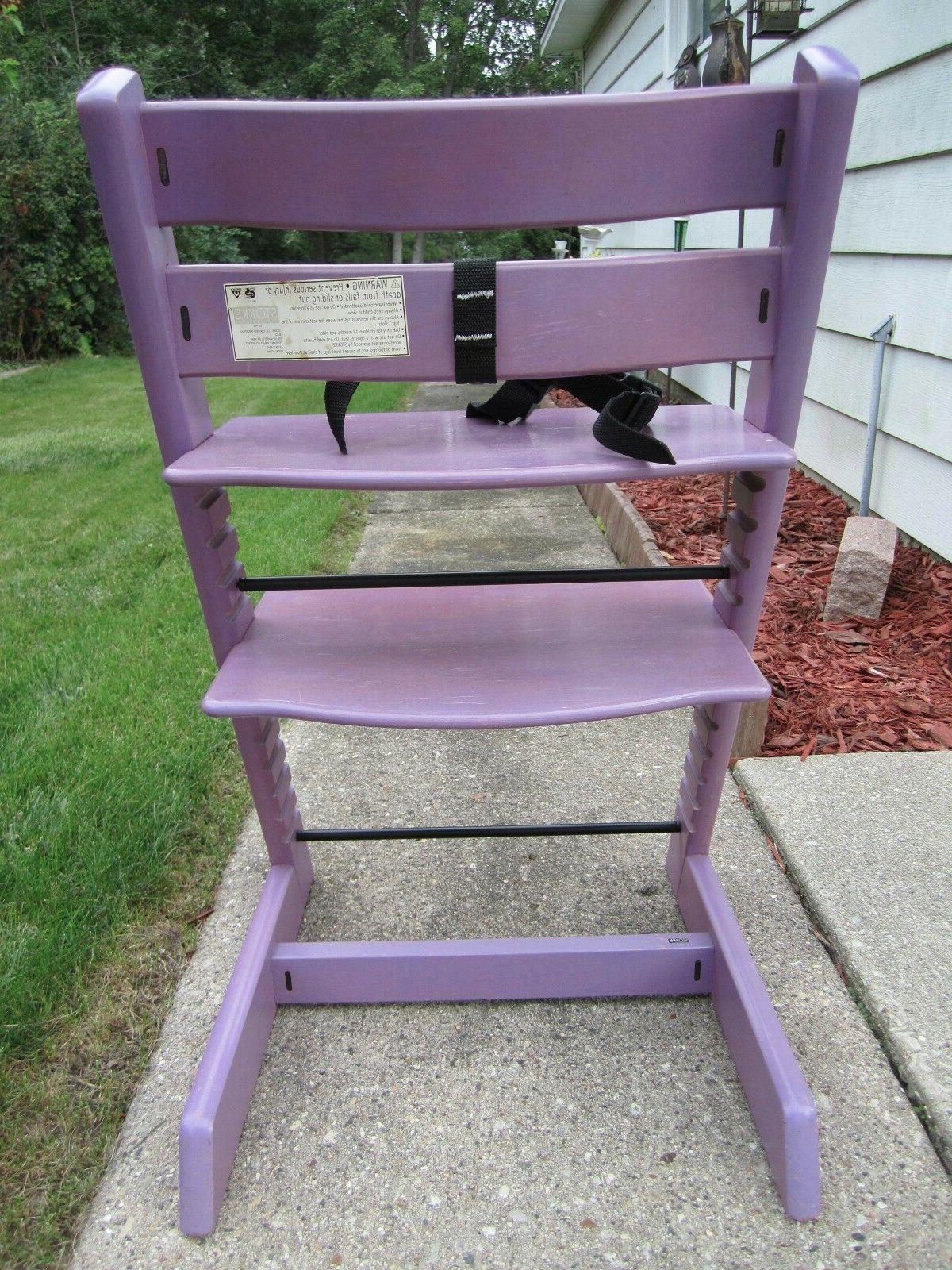 Authentic Stokke Trapp High Chair~Purple/Lavender color