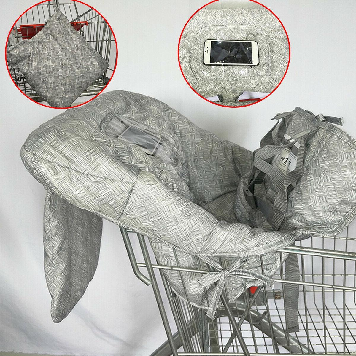 Baby Child Kid Trolley Cart Seat High Mat