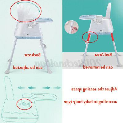 Baby 3-In-1 Adjustable Feeding Dining Booster