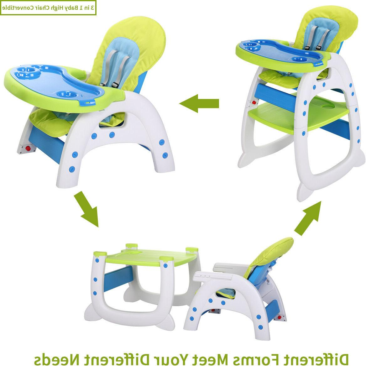 Baby High Chair in Play Table Seat Feeding Tray