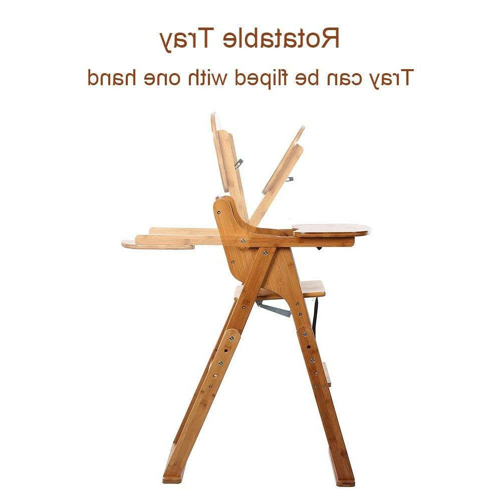 2020 High Chair Bamboo Infant Children Toddler