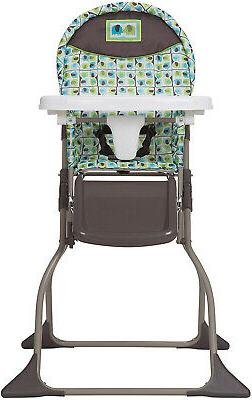 Baby High Chair Folds Flat Adjustable Tray Children Feeding
