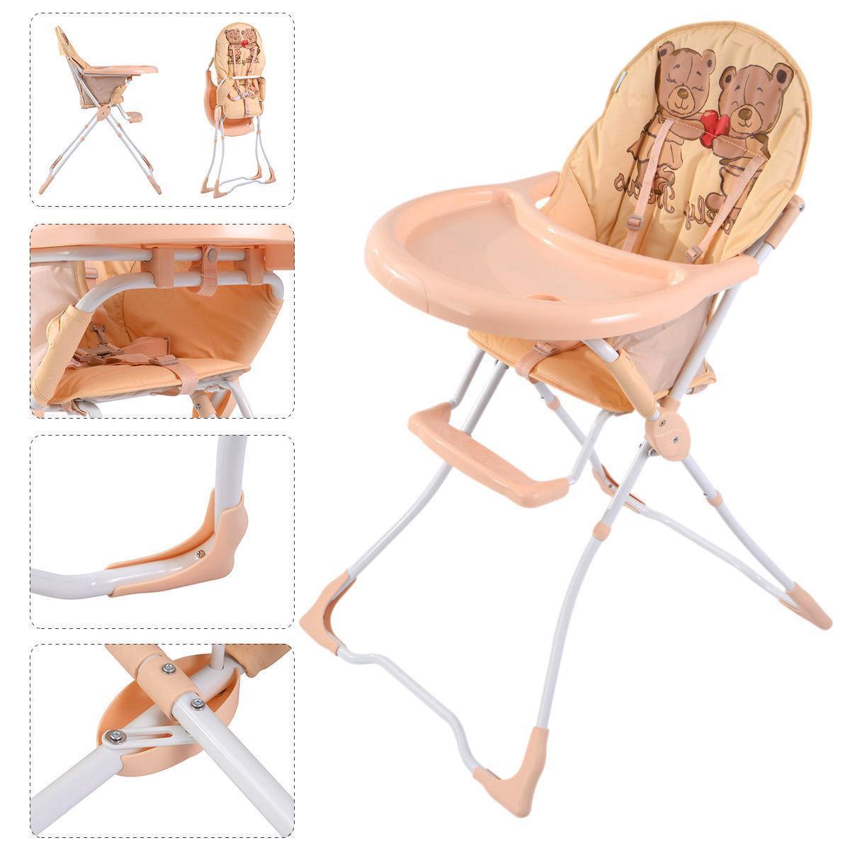 Baby Toddler Feeding Seat Folding Portable 4
