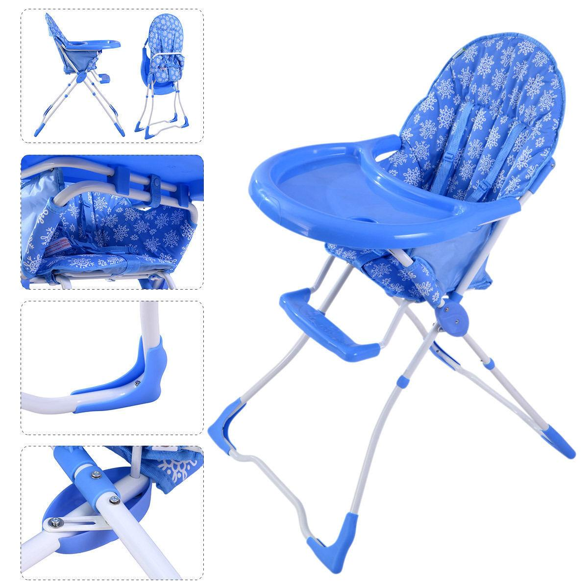Baby High Chair Toddler Feeding Folding Portable 4 Colors